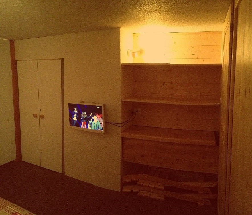 chambre 1 lit simple avec tv location les arcs 1800. Black Bedroom Furniture Sets. Home Design Ideas